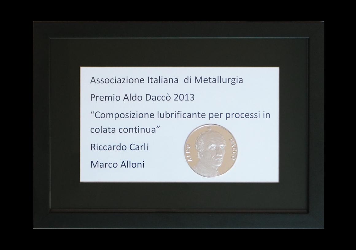 L'Associazione Italiana Metallurgia ha insignito Prosimet del Premio Innovazione Aldo Dacco'